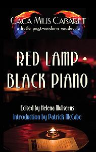 red lamp black piano