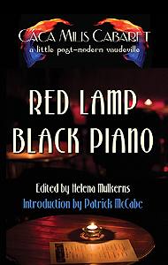red lamp black piano