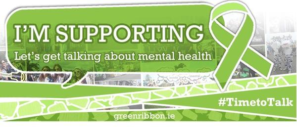TimeToTalk Green Ribbon Day Talk About Mental Health Susan Lanigan