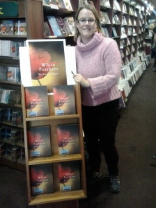 In the Book Centre, Kilkenny. White Feathers has its own shelf :)