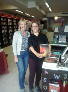 With Liz from Stone House Books, Kilkenny, a lovely independent bookshop opposite Kyteler's Inn